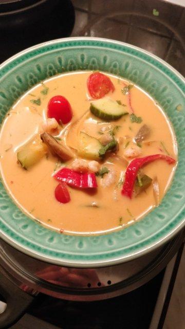 Reseptikuva: Punainen Curry katkaravuilla 1