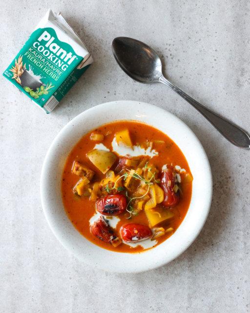 Reseptikuva: Vegaaninen bouillabaisse-keitto 1