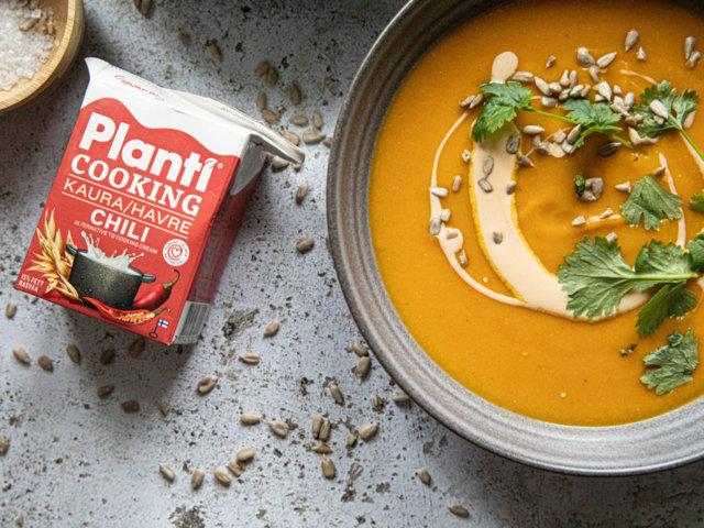 Reseptikuva: Tulinen porkkana-linssikeitto 1