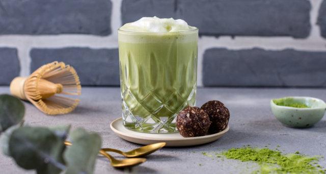 Reseptikuva: Vegaaninen matcha-latte 1