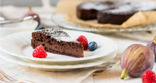 Reseptikuva: Ranskalainen suklaakakku ilman jauhoja 1