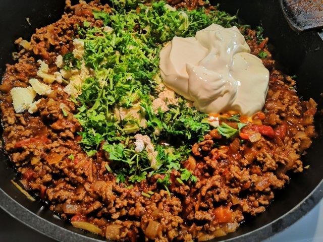 Reseptikuva: Jauheliha-spaghettivuoka 2