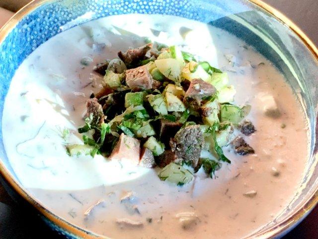 Reseptikuva: Okroshka - Venäläinen kylmä keitto 1