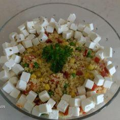 couscous-feta salaatti