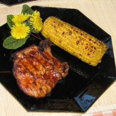 Grillattu Porsaankyljys ja Maissia