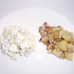 Perunasalaatti kahdella tavalla