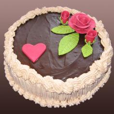 Suklaa-vadelmatäytekakku