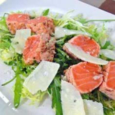 Lohipastram salaattipedillä