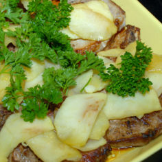 Porsaankyljykset ja omenalohkoja