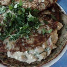 Pinaatti-ruisletut juusto-liha täytteellä