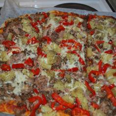 Pizza rapealla pohjalla (pellillinen)