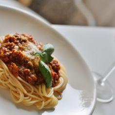 Kiireettömän Spaghetti Bolognese