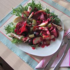 Puolukkainen salaatti