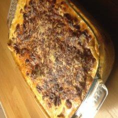 Sairaan hyvä lasagne