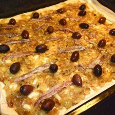 Ranskalainen sipuli-sardellipiiras pissaladière
