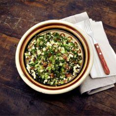 Juustoinen tabouleh-salaatti