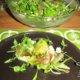 Persikka-mozzarella-prosciutto-salaatti